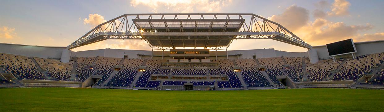 Bloomfield stadium banner